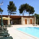 La piscine et le pool house avec cuisine d'été