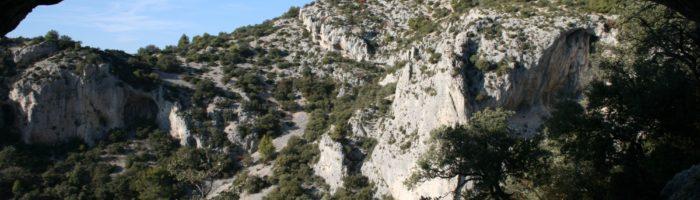Les monts de vaucluse à Saumane de Vaucluse