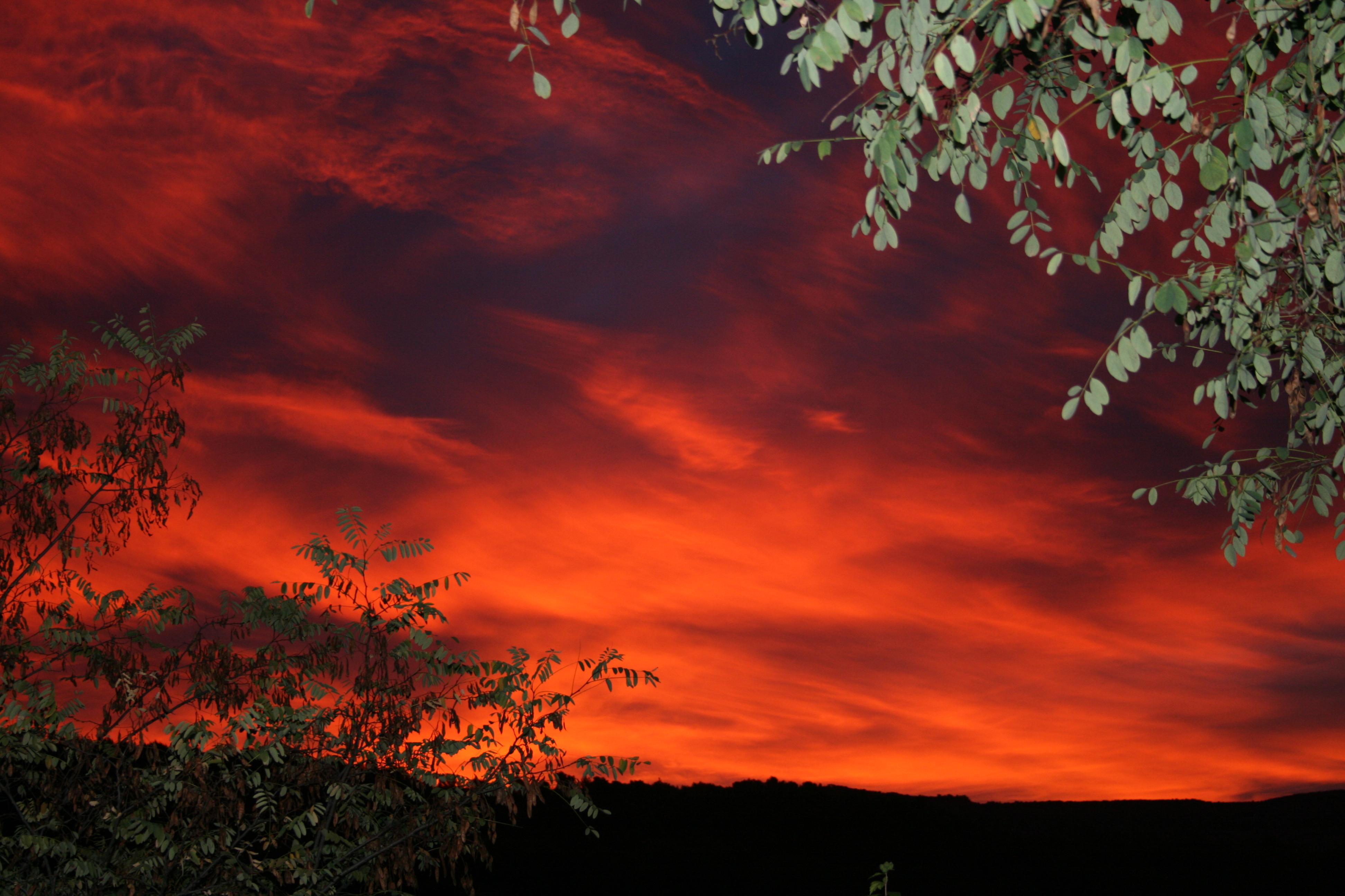 Couché de soleil à La Ribelle en Provence